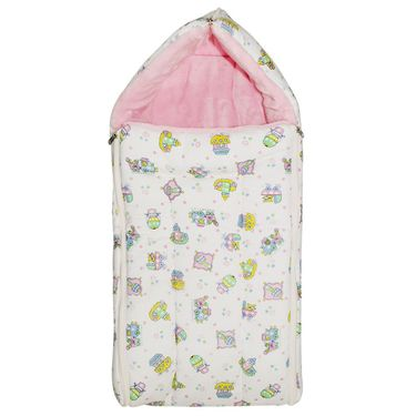 Wonderkids Pink Toys Print Baby Carry Nest