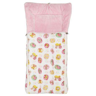 Wonderkids Pink Animals Print Baby Carry Nest
