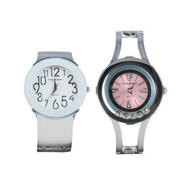 Pack of 2 Mayhem Analog Round Dial Watches_Ma2916 - White & Pink