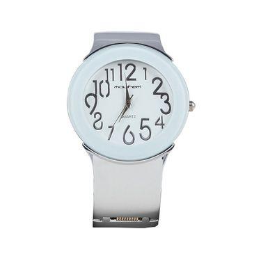 Mayhem Analog Round Dial Watch_Ma2922 - White