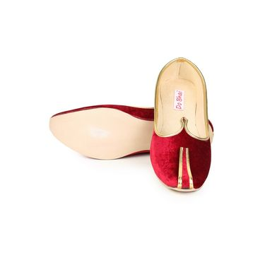 Do Bhai Synthetic Leather Ethnic Maharaja-Jutti-Red