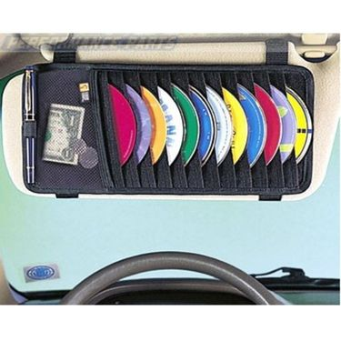 Combo of Car Mat Beige-Rubber, DVD Holder, Freshner, Blind Spot Mirror and Non-Slip Dash