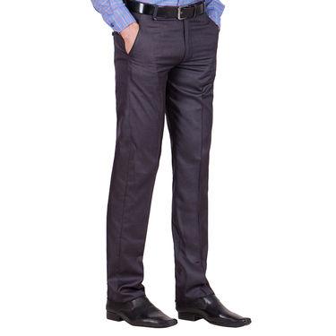 Tiger Grid Pack of 2 Cotton Formal Trouser For Men_Md019