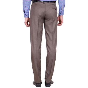 Tiger Grid Pack of 2 Cotton Formal Trouser For Men_Md027