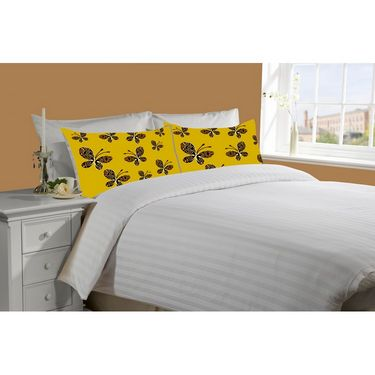 Mesleep White Double Bed Sheet With 2 Pillow Covers- SS-Pillow-02-12