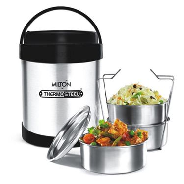 Milton Lunch Box Thermosteel Royal 3-Steel Color FG-THF-TTS-0004
