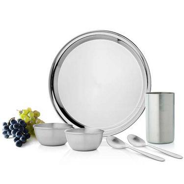 Set of 36 Mosaic Dinner Set - Silver
