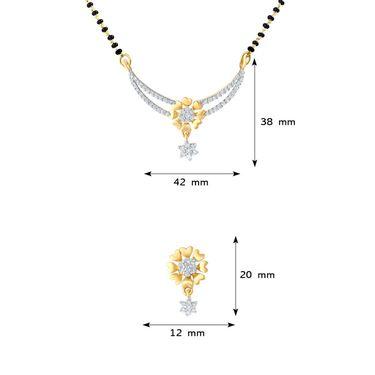 Mahi CZ Gold Plated Mangalsutra Set_Nl1101553g