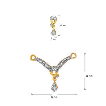 Mahi CZ Gold Plated Mangalsutra Set_Nl1101979g