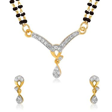 Mahi CZ Gold Plated Mangalsutra Set_Nl1101980g2