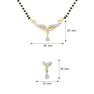Mahi CZ Gold Plated Mangalsutra Set_Nl1106004g