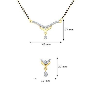 Mahi CZ Gold Plated Mangalsutra Set_Nl1106005g