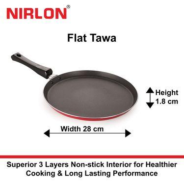 Nirlon Non-Stick Flat Tawa 27.5 cm_NR48002