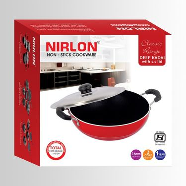 Nirlon Deep Kadai With SS Lid-Medium_NR48029