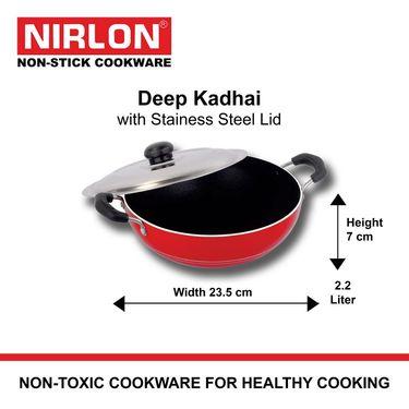 Nirlon Deep Kadai With SS Lid-Medium_NR48029
