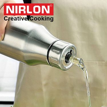 Nirlon Stainless Steel Oil Dispenser 1000 ml_NR48660
