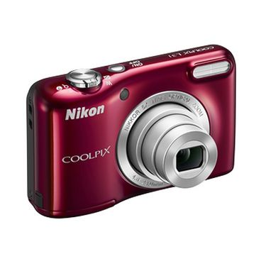 Combo of Nikon COOLPIX L31 Compact Digital Camera - Red + Fotonica FT-1009 7-in-1 Cleaning Kit