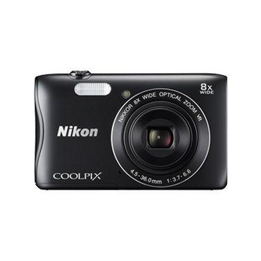 Nikon COOLPIX S3700 Compact Digital Camera - Black