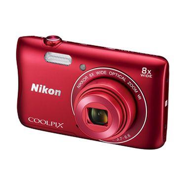 Nikon COOLPIX S3700 Compact Digital Camera - Red