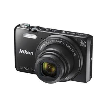 Nikon Coolpix S7000 16MP Point Shoot Digital Camera with 20x Optical Zoom - Black