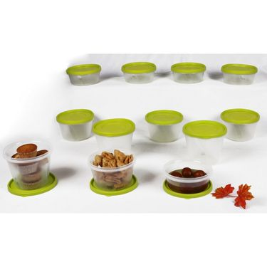 Kitchen Duniya Nesterware Food Storage Container 34 Peices-Trendy Green
