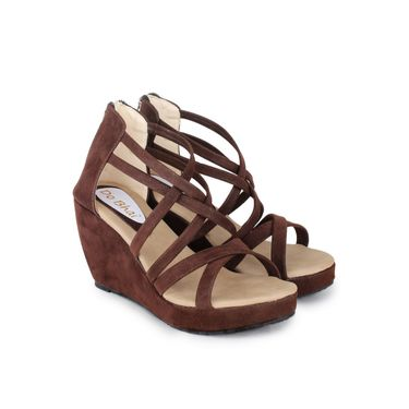 Do Bhai Suede Heels Office-Gola-Brown