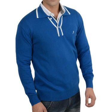 Branded Regular Fit Cotton Sweater_Os05 - Blue White