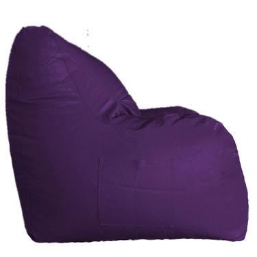 PSYGN Leatherette Chair Bean Bag Cover -  PBB201-PURPLE-XXXL