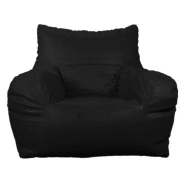 PSYGN Leatherette Chair Bean Bag Cover -  PBB302-BLACK-XXXL
