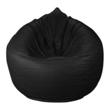 PSYGN Leatherette Sofa Bean Bag Cover -  PBB307-BLACK-XXXL