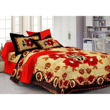 100% Cotton Multicolor Design Set of 4 Double Bedsheet with 8 Pillow Covers -PL1111_14_15_22