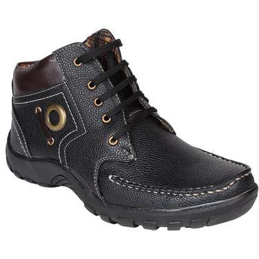 Pede Milan Faux Leather Casual Shoes PM-ASD-1111-Black