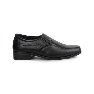 Pede Milan Synthetic Leather Black Formal Shoes -pde58