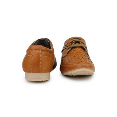 Pede Milan Synthetic Leather Tan Casual Shoes -pde45