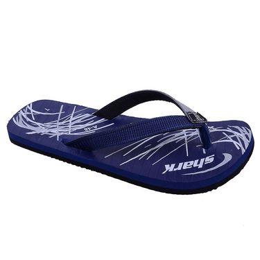 Porcupine Synthetic Flip Flops PN-FF-NB - Navy Blue & White