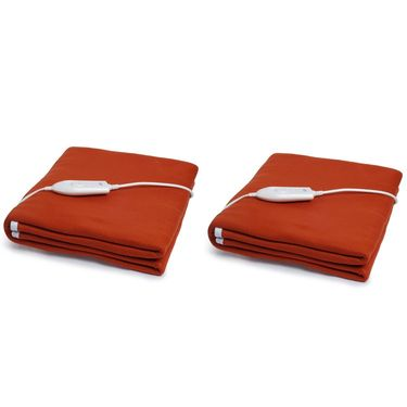 Set of 2 Expressions Polar Fleece Electric Single Blankets-POLAR05SB