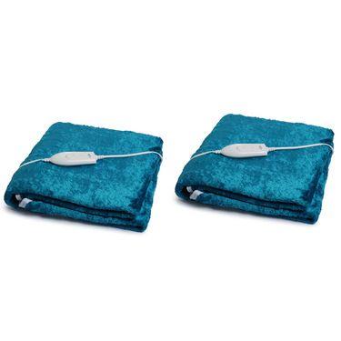 Set of 2 Expressions Mink Electric Single Blankets-POLAR101SB