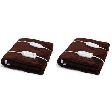 Set of 2 Expressions Mink Electric Double Blankets-POLAR103DB
