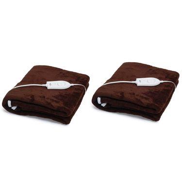 Set of 2 Expressions Mink Electric Single Blankets-POLAR103SB