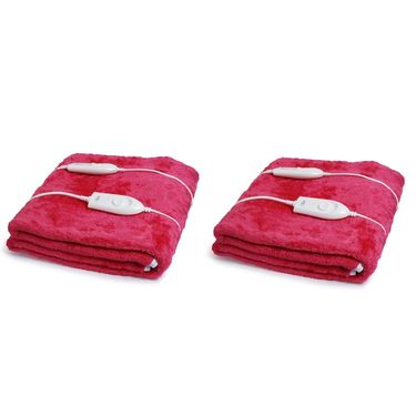 Set of 2 Expressions Mink Electric Double Blankets-POLAR104DB