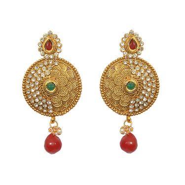 Pourni Exclusive Designer AD & Color Stone Earring_PRER31
