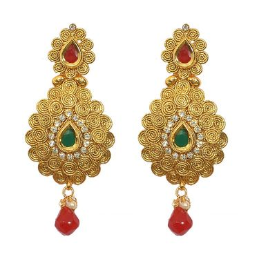 Pourni Exclusive Designer AD & Color Stone Earring_PRER34