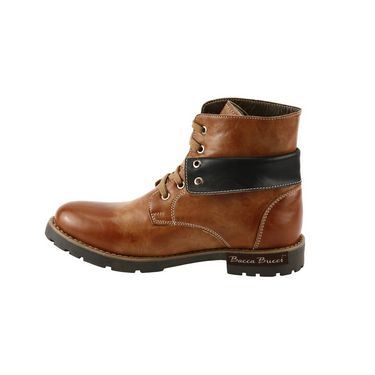 Bacca bucci Genuine Leather  Boots  PS-1031 - Tan & Black