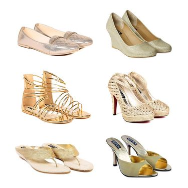 Pack of 6 All Occasion Footwear for Women  -ts01