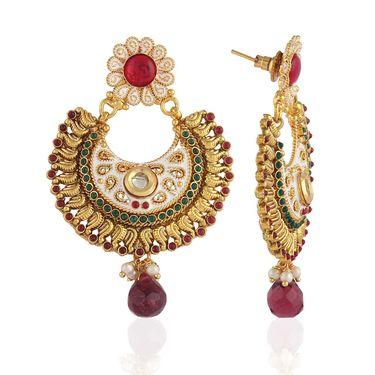 Panini Designer Dangle Earrings - Multicolour _ F-294