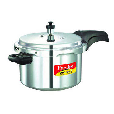 Prestige Deluxe Plus Aluminium Pressure Cooker 5 Ltr (Induction Based)