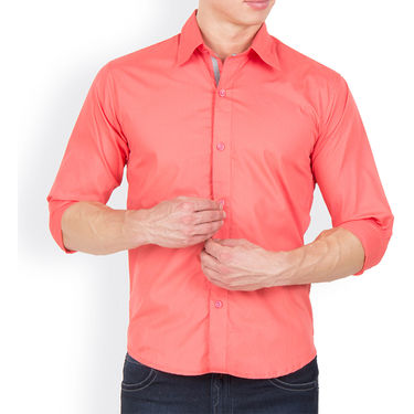 Pack of 2 Incynk Plain Cotton Shirt_qsc55 - Coral & White
