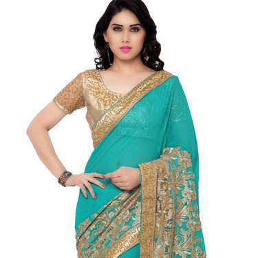 Indian Women Georgette Printed Saree -RA10603