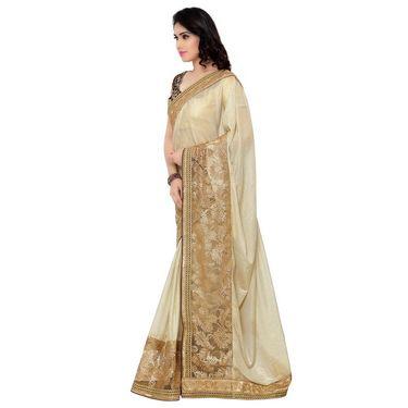 Indian Women Lycra Printed Saree -RA10611
