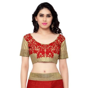 Indian Women Satin Jacquard Printed Saree -RA10621